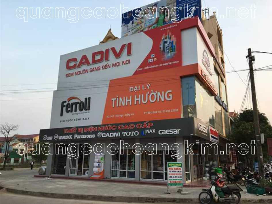 biển cửa hàng bằng bảng hiệu alu gắn logo và chữ alu nổi 3d đẹp