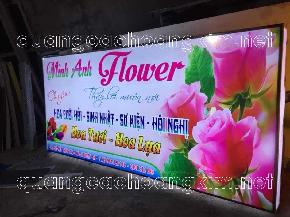 Biển bạt hộp đèn hiflex cửa hàng hoa cưới hỏi, sinh nhật, hội nghị