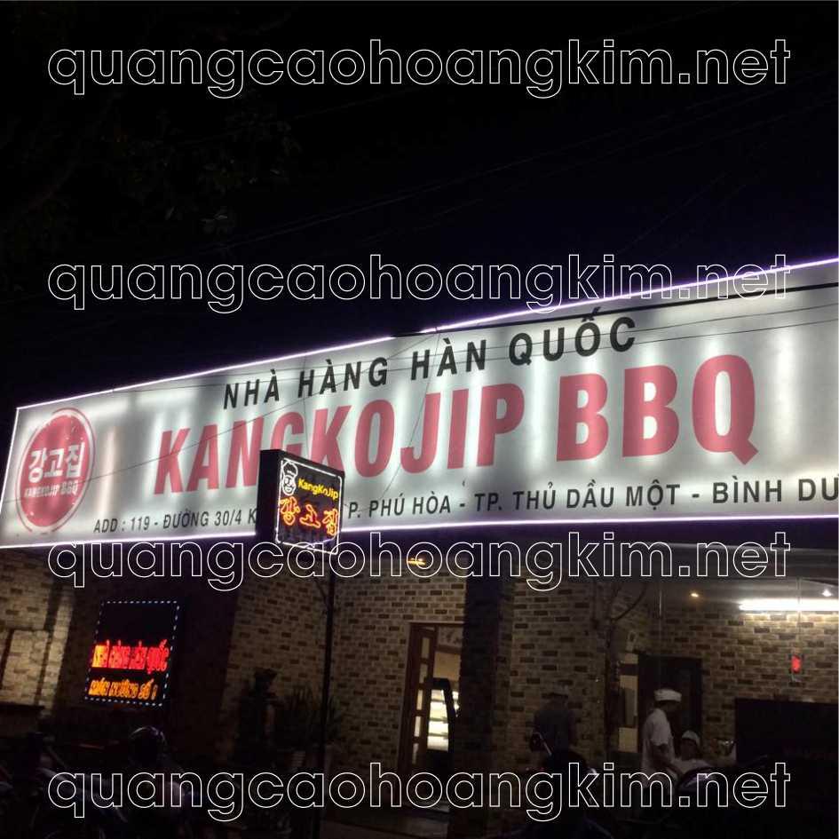 Biển bạt hộp đèn hiflex nhà hàng, quán ăn hàn quốc