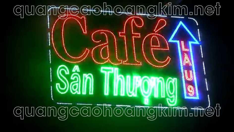 bien led vay cafe dep 7 - BIỂN LED VẪY THU HÚT MẮT KHÁCH HÀNG ĐI ĐƯỜNG CỰC MẠNH
