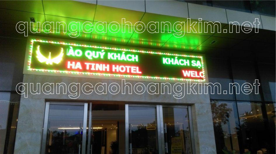 led ma tran 3 mau bien khach san hotel 2 - LED MA TRẬN 3 MÀU SÁNG LUNG LINH VÀ VÔ CÙNG ẤN TƯỢNG