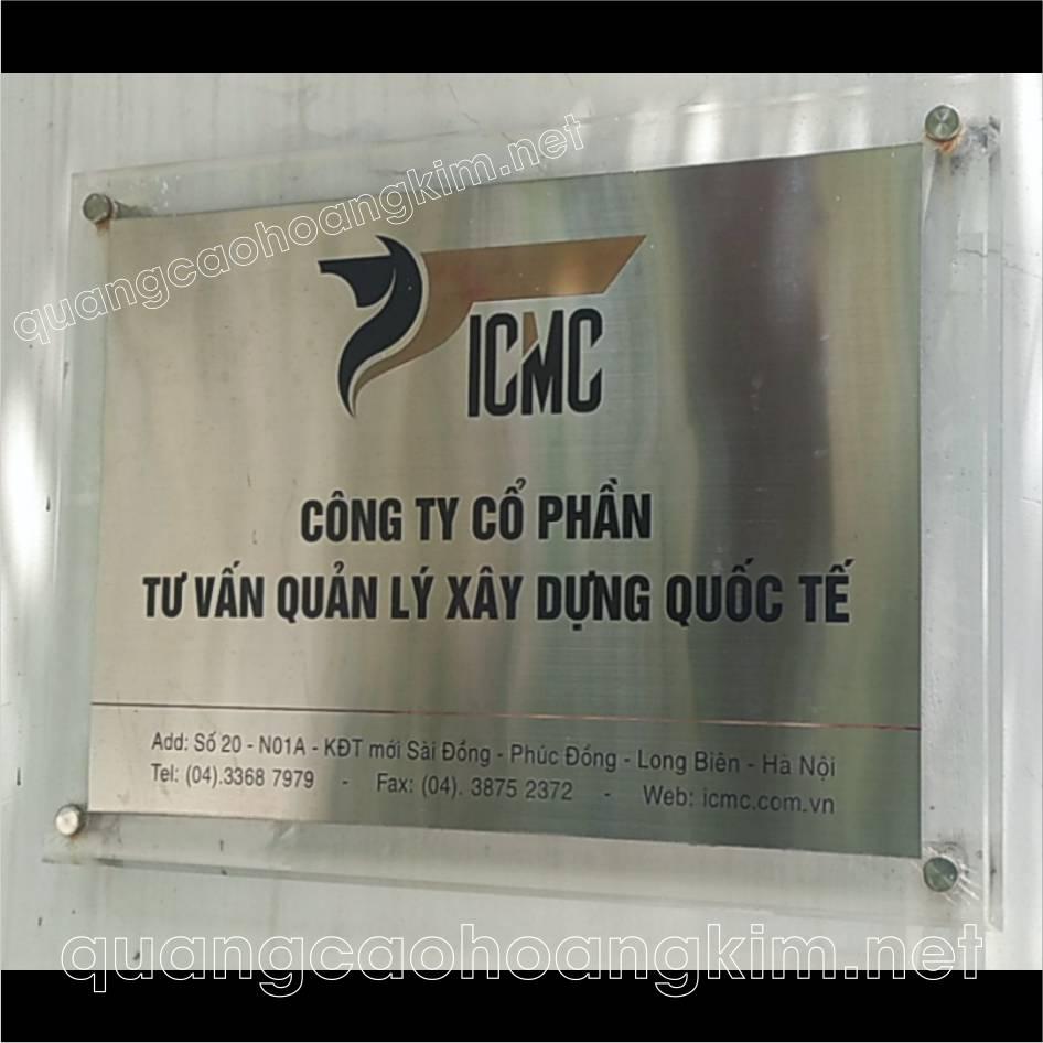 lam bang hieu cong ty inox de mica 8 - LÀM BẢNG HIỆU CÔNG TY INOX ĐẾ MICA THANH NHÃ, TRANG TRỌNG